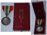Italy Royal House Silver Memorial Medal 1902 King Vittorio Emanuele III Italian Decoration Regia Zecca Boxed
