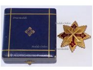 Italy Kingdom Two Sicilies Sacred Military Constantinian Order St George Grand Cross Brest Badge Boxed by Perez Naples