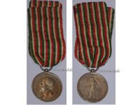 Italian Wars Independence 1859 1866 Military Medal Italy Commemorative King Vittorio Emmanuele Canzani