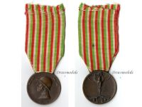 Italy WW1 Italian Unification Commemorative Medal for the War of 1915 1918 by Johnson