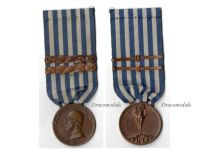 Italy WW1 Italian Unification Commemorative Medal for the War of 1915 1918 Merchant Navy Type with 2 clasps 1915 1916 by Johnson