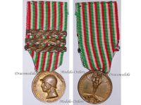 Italian WW1 Unification Unity Italy Military Medal 3 bars 1915 1918 Decoration Award Great War WWI Maker Nelli