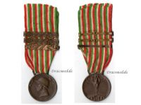 Italy WW1 Italian Unification Commemorative Medal for the War of 1915 1918 with 3 clasps 1916 1917 1918 by Sacchini