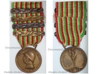 Italy WW1 Italian Unification Commemorative Medal for the War of 1915 1918 with 4 clasps 1915 1916 1917 1918 by Lorioli Castelli
