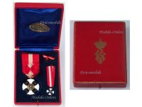 Italy WW1 Order of the Italian Crown Officer's Cross King Vittorio Emanuele III Boxed by Tarantino
