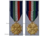 Italy Police Long Service Cross XVI Years Italian Republic 1965 Officers Decoration Medal