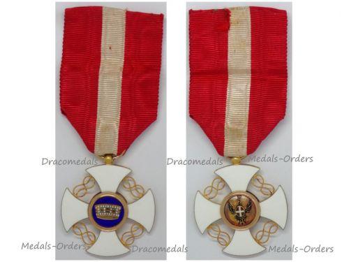 Italy WW1 Order of the Italian Crown Knight's Cross King Vittorio Emanuele III