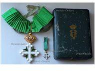 Italy WW1 Order Saint St Maurice & Lazarus Commander's Cross Boxed Set w Miniature by Jacoangeli
