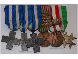 Italy WW2 Cross War Merit Commemorative Military Medal bars 1940 1943 1945 Long Service Cross XXV Italian Republic set