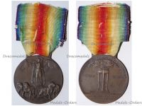 Italy WW1 Victory Interallied Medal Maker Lorioli Castelli Laslo Official Type 3