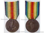 Italy WW1 Victory Interallied Medal Maker Sacchini Laslo Official Type 1