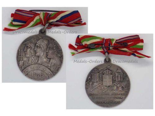 Italy WW1 Silver Medal 6th Plateau Army Altipiani Italian British French Armies Decoration Great War WWI 1914 1918 by Johnson