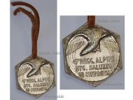 Italy WW2 4th Alpine Regiment Saluzzo Battalion Military Medal Taurinense Division Greece 1940 Italian Decoration Fascism Mussolini Silver 800