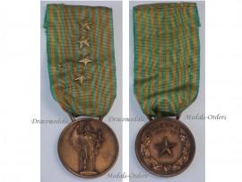 Italy WW2 Commemorative Military Medal 1940 1943 NCO 4 stars Italian Fascism Mussolini Republic