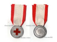 Italy WW2 Red Cross Nurses School Military Medal Italo-Ethiopian War 1936 Italian Decoration Fascism Mussolini Named Silver 800
