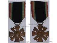 Italy WW2 MVSN Militia Cross Long Service 10 years Medal Blackshirts Italian Fascism WWII 1939 1945