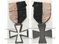 Italy WW2 Snow Cross of the CSIR (Commemorative Cross of the Italian Expeditionary Corps in Russia) 1941 1942 in Zinc by Lorioli