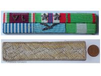 Italy WW2 Ribbon Bar 6 Medals Italian Air Force Pilot (Volunteers of Liberty, Commemorative 1943 1945, Army & Air Force Long Command Medal, Order of Merit of the Italian Republic Knight's Cross)