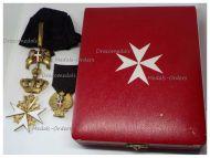 Maltese Order Merit Sovereign Military Hospitaller Order St John Jerusalem Rhodes Malta Donat Devotion Cross Military Division Set Boxed by Tanfani & Bertarelli