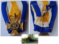 Netherlands Officer's Long Military Service Cross for XV Years 1906 1953 by Van Wielik