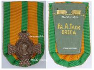 Netherlands WW2 Commemorative Cross Military Medal 1940 1945 Dutch Holland Maker Begeer Mounted by A. Tack Breda