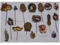 Russia Czechoslovakia Soviet Union East Germany set 17 pins USSR Communism Warsaw Pact Cold War