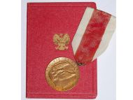 Poland Merit National Defence Military Medal 1966 Polish Communism People's Republic Decoration Diploma
