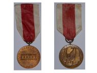 Poland Merit National Defence Military Medal 1966 Polish Communism People's Republic Decoration