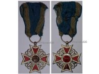 Romania WW1 Order Romanian Crown 1st type 1881 1932 Knight's Cross King Carol Decoration Civil Division