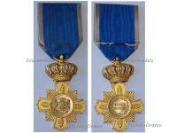 Romania WW1 Loyal Service I Class Military Cross 1st type 1906 1932 King Carol Romanian Medal Decoration WWI 1914 1918