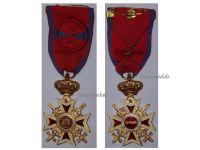 Romania WW2 Order Romanian Crown 2nd type 1932 1947 Officer's Cross King Mihai Military WW2 1939 1945