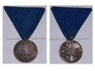 Serbia Medal for Zealous Service Silver Class (Balkan Wars 1912 1913 & WW1 1914 1918)