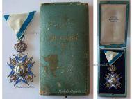Serbia Order Saint Sava 1883 5th Class Knight's Cross Green Robe Serbian Decoration 1921 1941 boxed Sorlini Varazdin