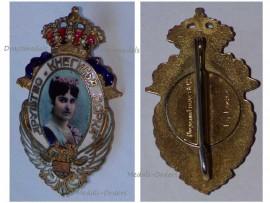 Serbia WW1 Princess Zorka Montenegro Society Serb Women Badge Honor Decoration Serbian Maker Huguenin Freres