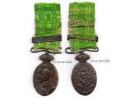 Spain Campaign Morocco 1915 Bronze Military Medal clasp Melilla Spanish Decoration King Alfonso XIII
