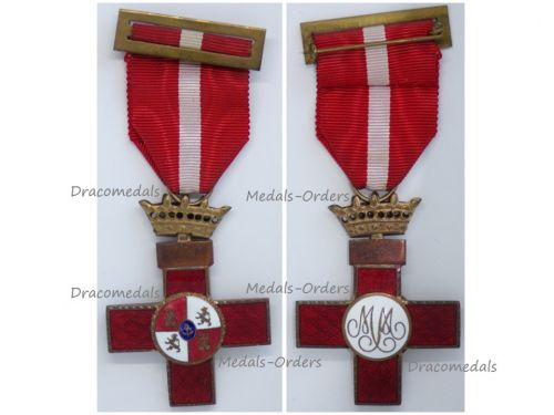 Spain WW2 Order Military Merit Cross with Red Distinction General Franco 1938 1943