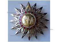 Thailand Most Exalted Order White Elephant Grand Cross Breast Star I Class