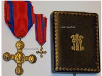 Vatican WW1 Lateran Cross 1st Class Gold 1903 Medal Pope Leo XIII Boxed Set with Miniature Papal Decoration
