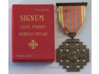 Vatican Pilgrimage Jerusalem Holy Land Cross 3rd Class Bronze Pope Leo XIII 1901 Medal Papal Decoration Boxed