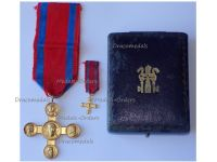 Vatican WW1 Lateran Cross 1st Class Gold 1903 Boxed Set with Miniature by the School of Medal Making