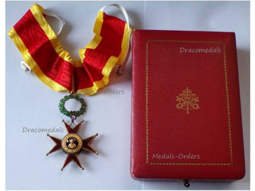 Vatican WW2 Order St Saint Gregory Commander's Cross Medal Pope Papal Decoration Award Boxed by Casazza