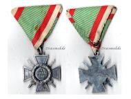 Hungary WW2 Fire Cross 1941 for Combatants 1942 Issue in Aluminium