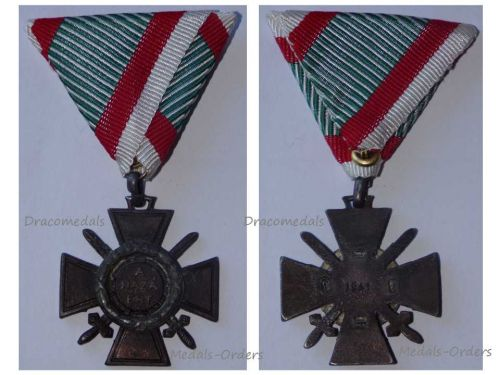 Hungary WW2 Fire Cross Combatants Issued 1941 Military Medal Hungarian Decoration Admiral Horthy Axis