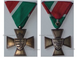 Hungary WW2 National Defense Cross 1940 Military Medal Hungarian Decoration Admiral Horthy Award Axis Lux Type