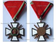 Hungary WW2 Order of Merit Cross 4th Class with Swords 1922 1944 Military Division