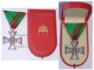 Hungary WW2 Order of Merit Silver Cross 1922 1944 Boxed Marked 987 by the Hungarian State Mint