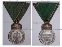 Hungary WW2 Signum Laudis Crown Military Medal 1922 Silver Hungarian Decoration Admiral Horthy Axis