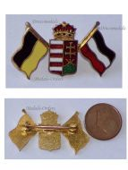 Austria Hungary WW1 Hungarian Crown Coat of Arms Central Powers Flags Cap Badge