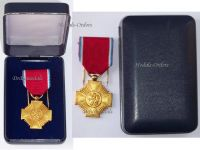 Luxembourg WW2 Order Merit Gold Medal Grand Duchy Duchess Charlotte Award Luxembourgish Decoration WWII Boxed