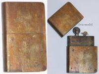 France Trench Art WW1 Petrol Lighter Book WWI 1914 1918 French Great War Patriotic West Front